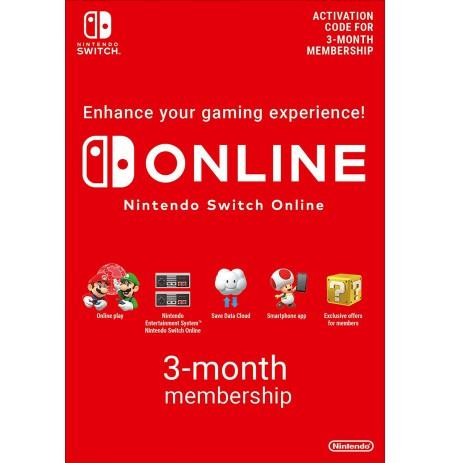 Nintendo Switch ONLINE 3-kuuline liikmelisus