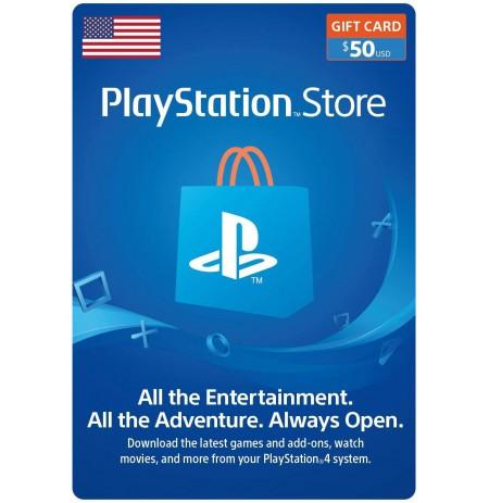 Playstation Network Card 50 USD (USA)