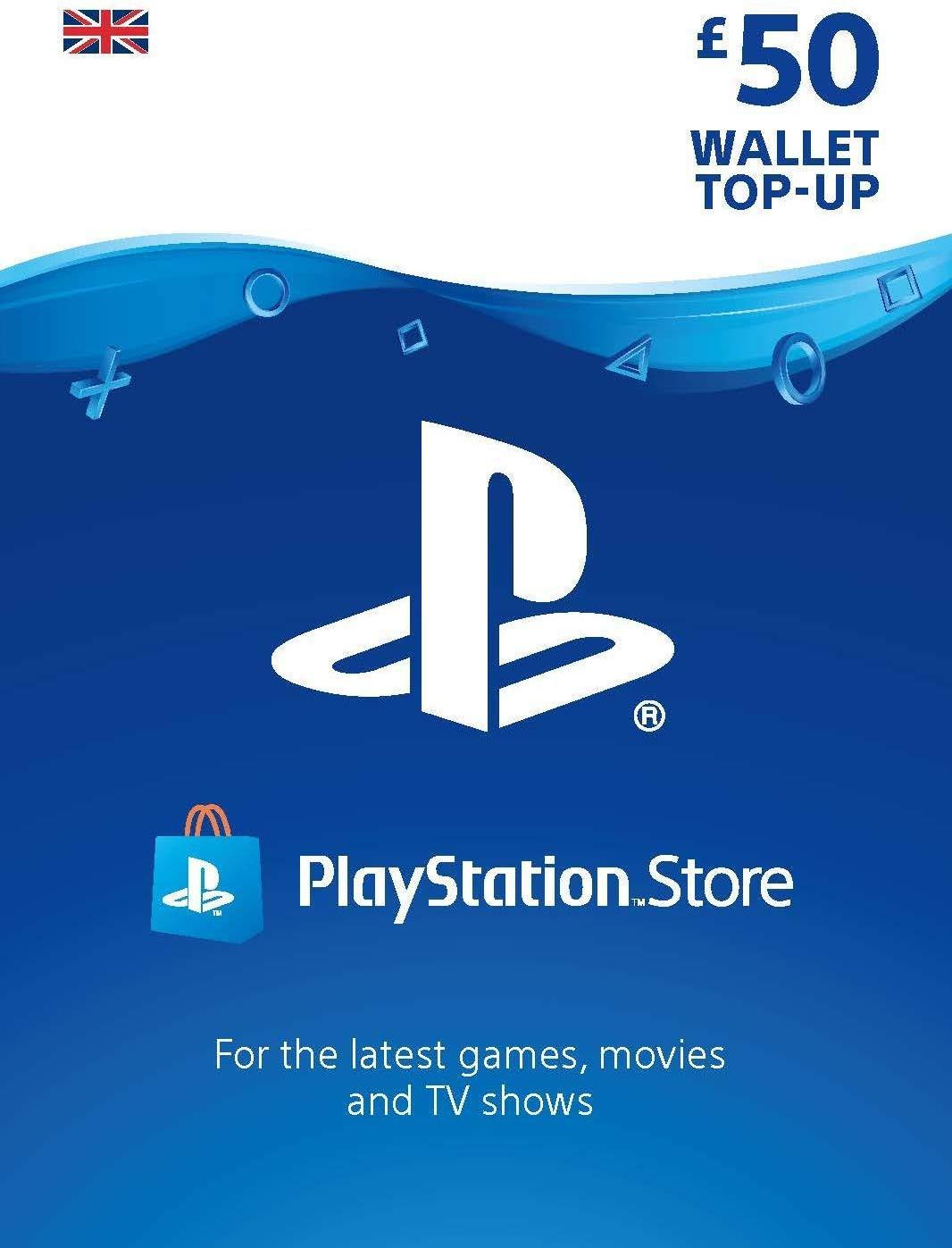 Playstation Network Card 50 GBP (Suurbritannia)
