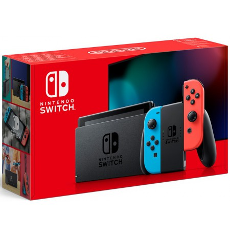 Nintendo Switch konsool (su Neon Red ir Neon Blue Joy- Con) v1.1(V2)