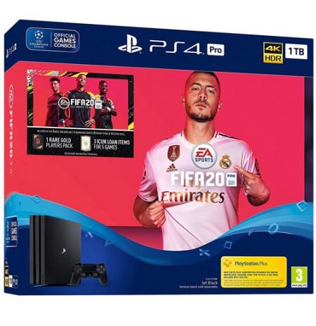 Mängukonsool SONY PlayStation 4 (PS4) Pro 1TB (must) - FIFA 20