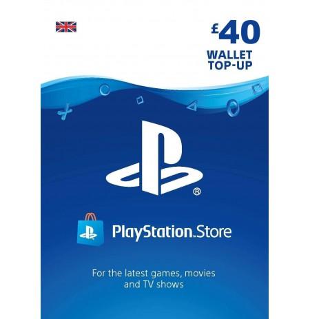 Playstation Network Card 40 GBP (Suurbritannia)
