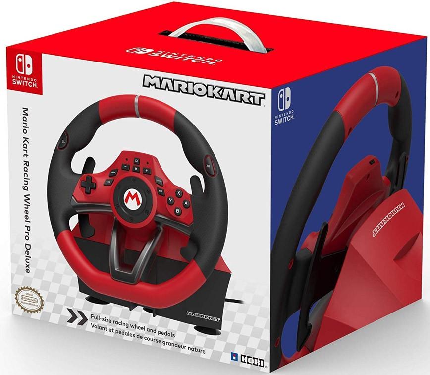HORI Mario Kart Racing Wheel Pro Deluxe rool Nintendo Switch'ile | NSW