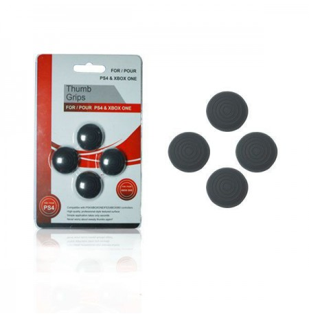 PS4/Xbox One Analog Thumbstick Covers 4 pcs/set (Black)
