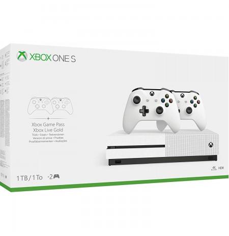 MÄNGUKONSOOL Xbox One S 1TB valge koos lisapultiga