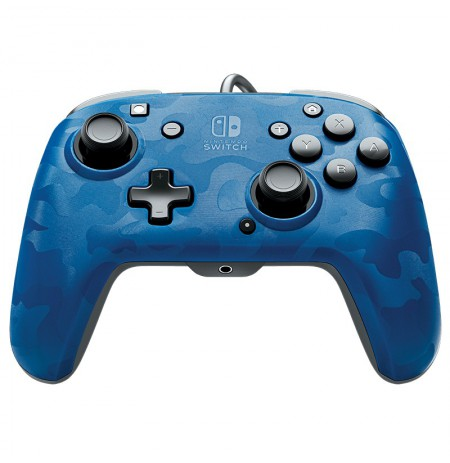 PDP Faceoff Deluxe+ Audio - Blue Camo juhtmega mängupult Nintendo Switchile