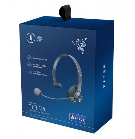 RAZER Tetra mustad juhtmega kõrvaklapid koos mikrofoniga l 3,5