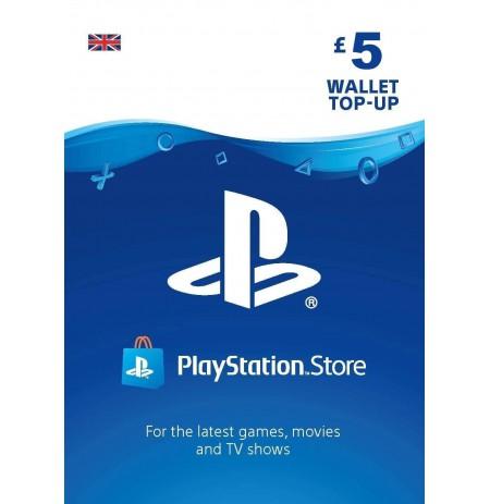 Playstation Network Card 5 GBP (Suurbritannia)