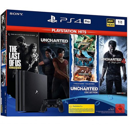 Mängukonsool SONY PlayStation 4 (PS4) PRO 1TB (must) + Naughty