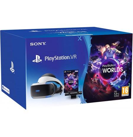 Virtuaalreaalsuse prillid Sony PlayStation VR jaoks koos PS4 kaamera ja mänguga VR Worlds