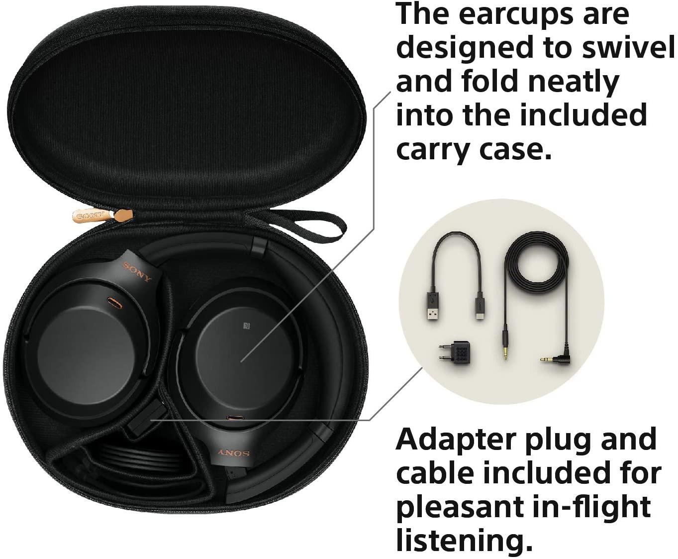 Sony WH-1000XM3 juhtmevabad mürasummutavad kõrvaklapid (mustad)