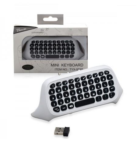 Valge traadita klaviatuur Xbox One jaoks