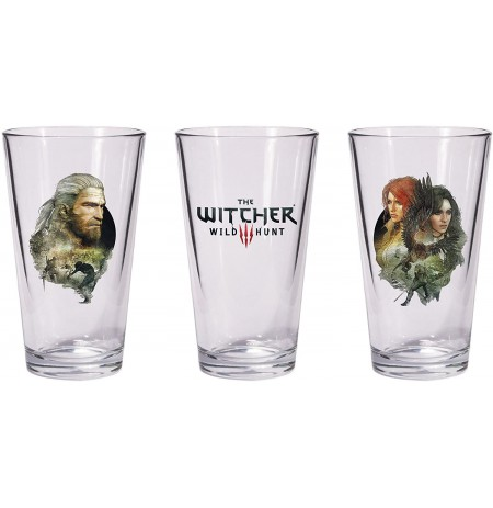 The Witcher 3: Wild Hunt - Geralt & Triss with Yeneffer Pint klaasikesed