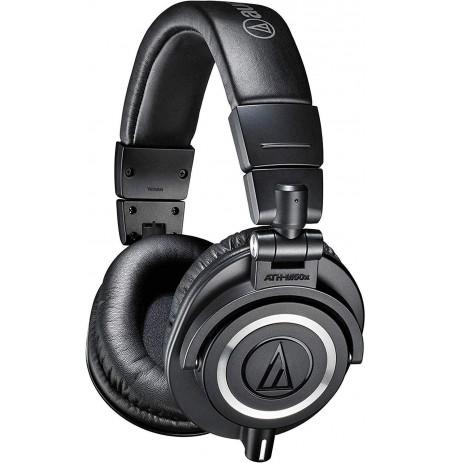 Audio Technica ATH-M50X juhtmega kõrvaklapid (Black) 3,5 mm /