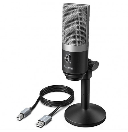 FIFINE K670 hõbedane kondensaator mikrofon | USB
