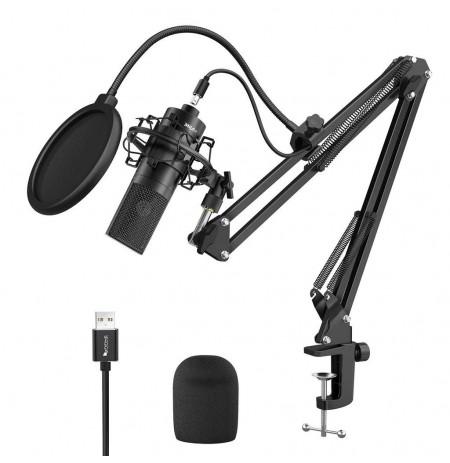 FIFINE K780A must kondensaatormikrofon koos juhtmega + hoidik | USB