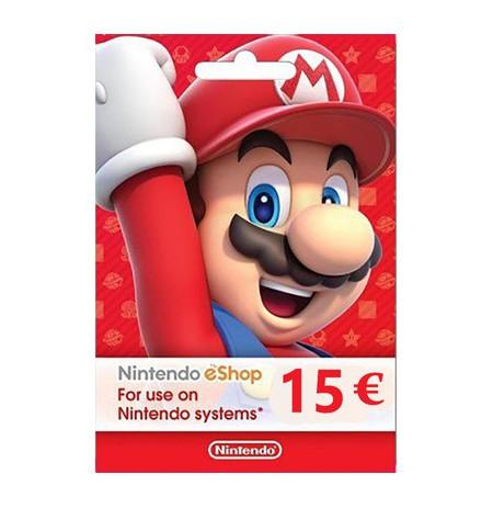 Nintendo eShop Card 15 EUR (EUROOPA RIIGID)