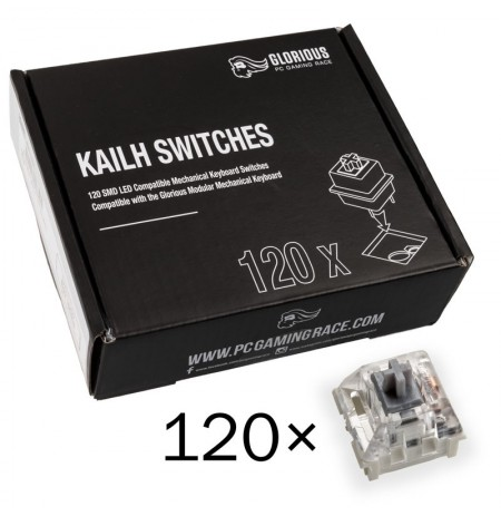 Glorious PC Gaming Race Kailh Speed Silver switch'ile   Linear Silent (120 tk)