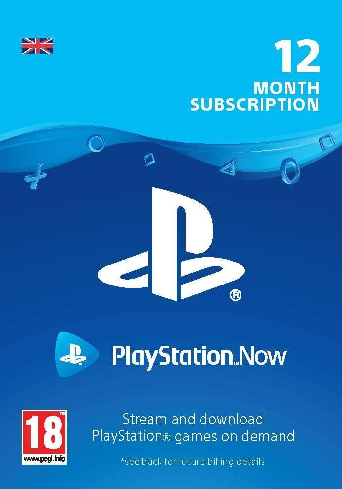 PlayStation Now - Tellimus 12 kuud (Suurbritannia)