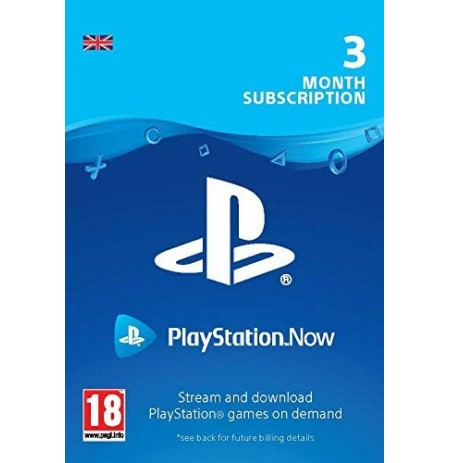 PlayStation Now - Tellimus 3 kuud (Suurbritannia)