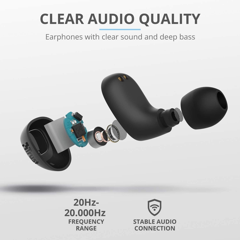 TRUST Nika mustad juhtmevabad kõrvaklapid (Bluetooth)