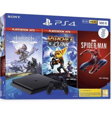 Mängukonsool SONY PlayStation 4 (PS4) Slim 500 GB (must)