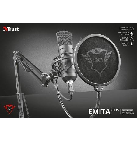 TRUST GXT 252+ Emita Plus juhtmega mikrofon + hoidik | USB