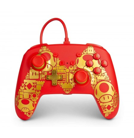 PowerA Super Mario Golden M juhtmega mängupult Nintendo