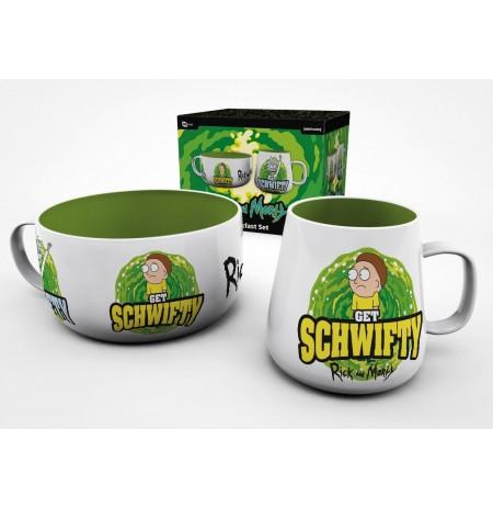 RICK AND MORTY Get Schwifty Reverse hommikusöögi tasside komplekt