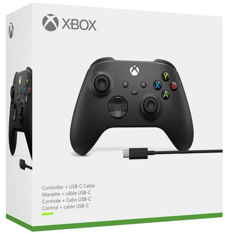 Xbox-seeria juhtmevaba mängupult USB-C kaabliga (Carbon Black)