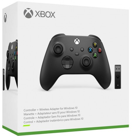 Xboxi seeria adapteriga juhtmevaba mängupult (Carbon Black)