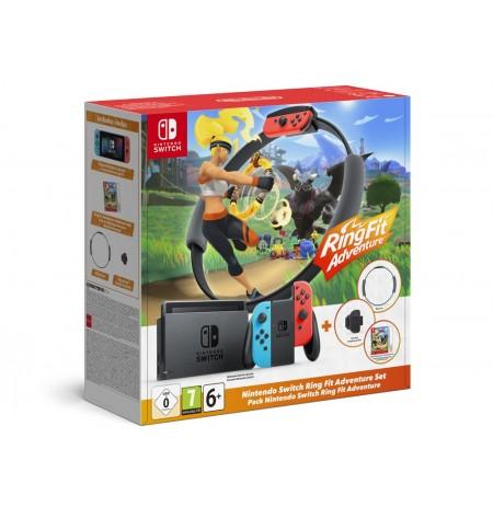 Nintendo Switch Ring Fit Adventure konsoolide komplekt (Neon Red ir Neon Blue Joy- Con) v1.1(V2)