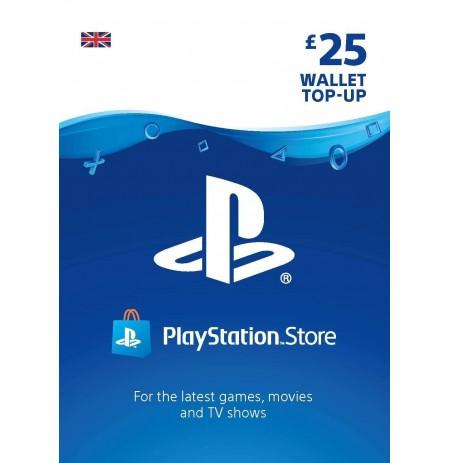 Playstation Network Card 25 GBP (Suurbritannia)