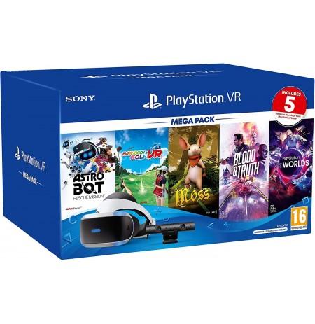 Virtuaalse reaalsuse prillid Sony PlayStation VR Mega Pack PS4 kaamera ja 5 mänguga