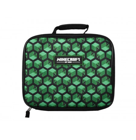 Minecraft Creepers Blocks lunch bag