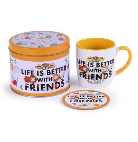 """FRIENDS """"Life is better"""" Mug Tin Set"""