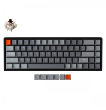 Keychron K6 mehaaniline 65% klaviatuur (juhtmeta, alumiiniumraamiga, RGB, Hot-swap, US, Gateron Brown)