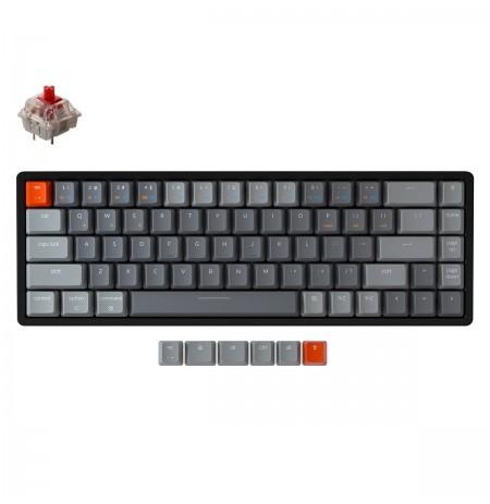 Keychron K6 mehaaniline 65% klaviatuur (juhtmeta, alumiiniumraamiga, RGB, Hot-swap, US, Gateron Red)