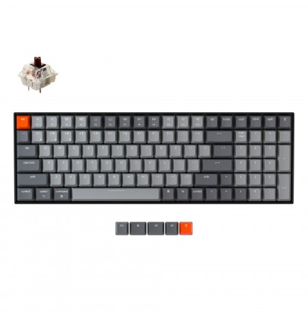 Keychron K4 mehaaniline 96% klaviatuur (V2, juhtmeta, White LED, US, Gateron Brown)