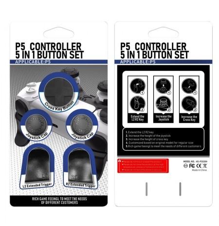 PlayStation 5 kontrolleri nupu komplekt (Must)