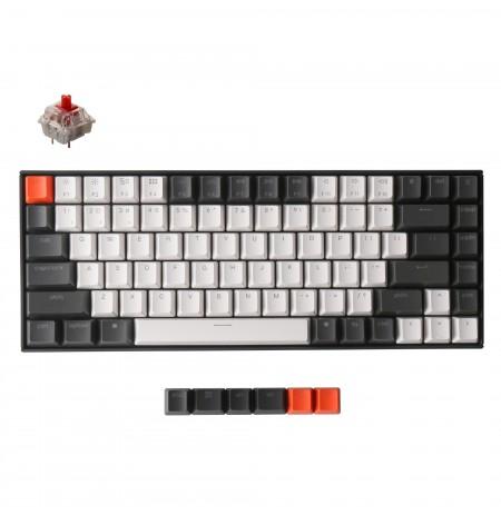 Keychron K2 mehaaniline 75% klaviatuur (juhtmeta, White LED, US, Gateron Red)