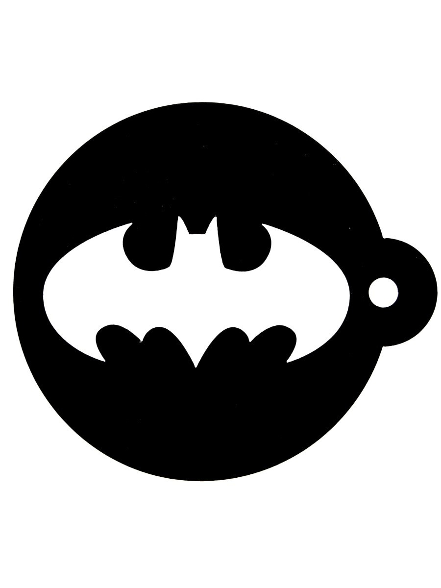 Batman (Symbol) Cappuccino kruus ja šabloon (630ml)