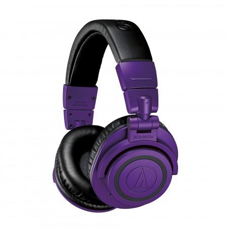 Audio-Technica ATH-M50xBTPB juhtmeta kõrvaklapid (lilla / must)