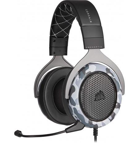 Corsair Stereo  HS60 HAPTIC Juhtmega mikrofoniga kõrvaklapid (must / hall)