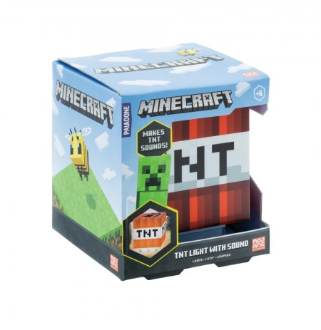 Minecraft TNT lamp koos heliga
