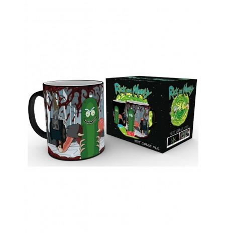 Rick and Morty - Pickle Rick kuumusele reageeriv tass