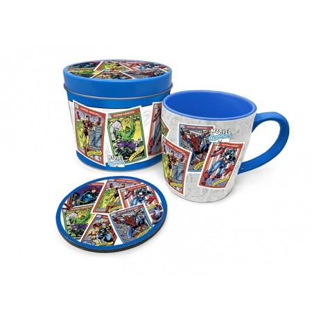 Marvel - Collectors Cards, Mug & Coaster In Tin