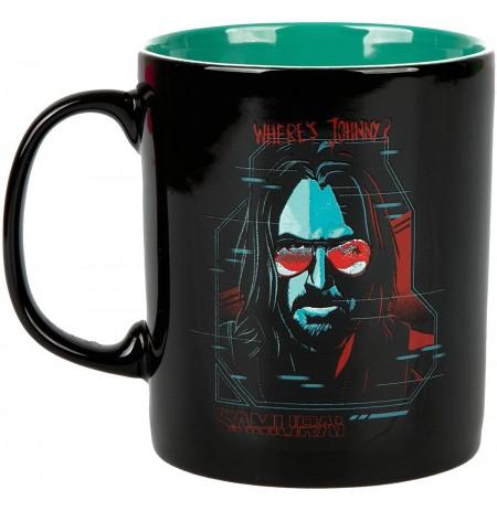 Cyberpunk 2077 Digital Ghost Johnny Silverhand Samurai Mug