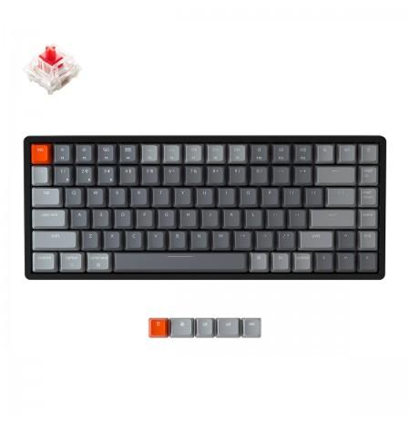 Keychron K2 Traadita mehaaniline 75% klaviatuur (traadita, RGB, US, Gateron Red)