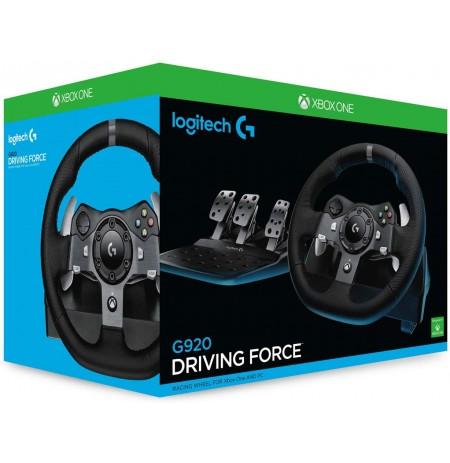 Logitech G920 Driving Force Racing Wheel (Xbox One|PC) (kahjustatud pakend)